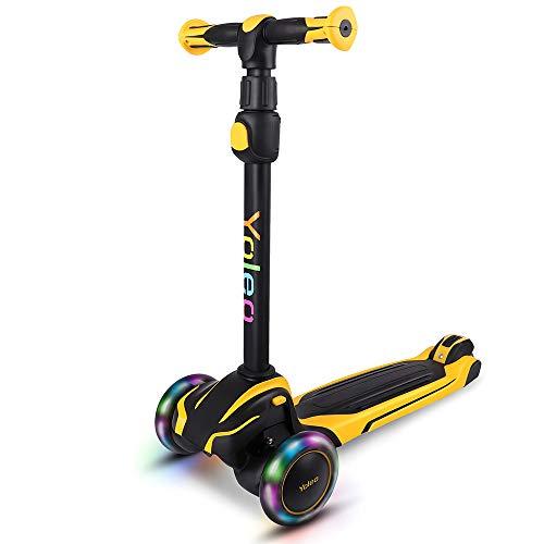 YOLEO Kinder Scooter Roller, Kinder Roller mit LED Leuchtenden Räder,...