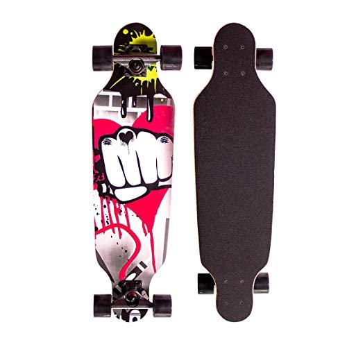 Sumeber Longboard Skateboard 31 Zoll for Anfänger Twin Tip Street Long Board...