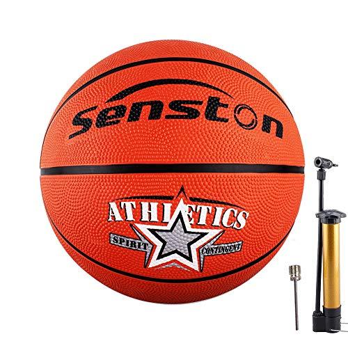Senston Basketball Größe 7 mit Pumpe, für Kinder/Jugendliche, Basketballspiel...