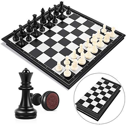 Peradix Schachspiel Magnetischem Einklappbar Schachbrett Schach für Kinder ab 6...
