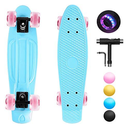 shownicer Skateboard Kinder Komplettboard Mini Cruiser Skate Penny Board...