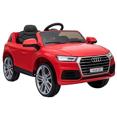 HOMCOM Kinderauto Kinderfahrzeug Kinder Elektroauto mit Fernbedienung Rot 116 x...