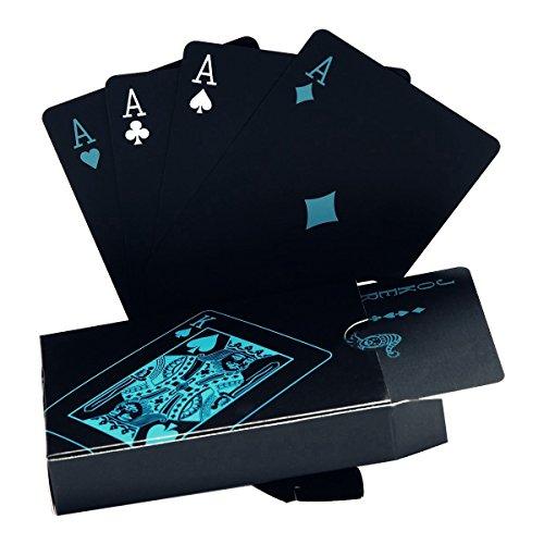 Schwarze Spielkarten Wasserdichtes Pokerkarten Profi Poker Playing Cards Karte...