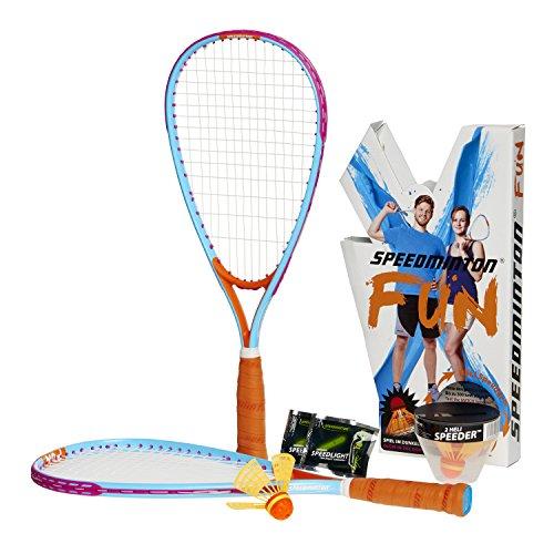 Speedminton FUN Set - Alternative zu Beachball/Federball inkl. 2 HELI Speeder...