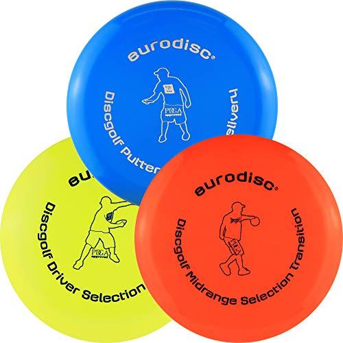 Eurodisc Disc Golf Frisbee Einsteiger Starter Set besonders hochwertig haltbar...