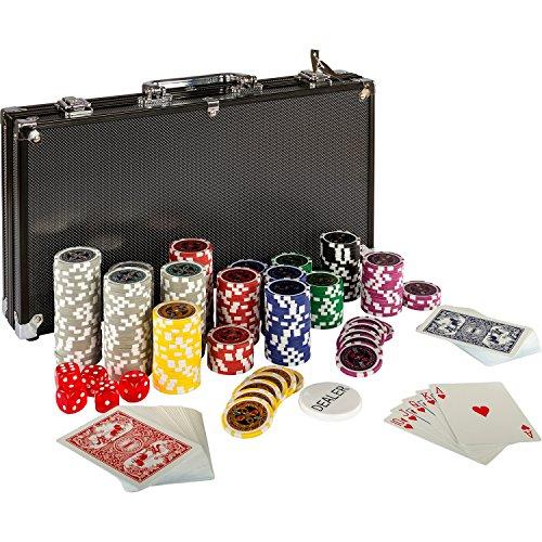 Ultimate Black Edition Pokerset, 300 hochwertige 12 Gramm METALLKERN Laserchips,...