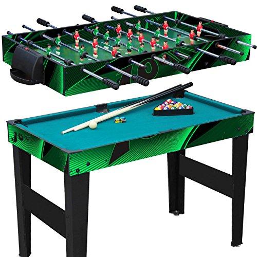 Anaterra Multigame Spieletisch 10 in 1, Kickertisch Tischfußball, Billardtisch,...