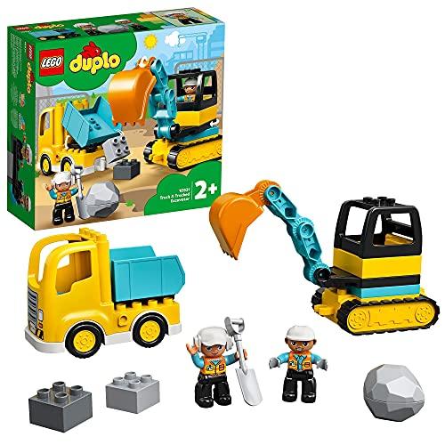 LEGO 10931 DUPLO Bagger und Laster Baufahrzeug Spielzeugset für Kleinkinder ab...
