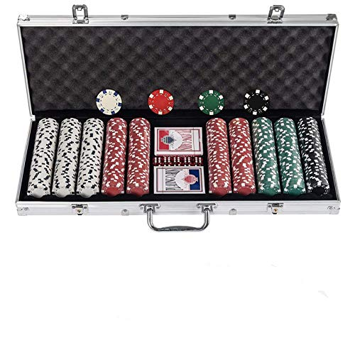 Display4top Pokerkoffer , Laser Pokerchips Poker 12 Gramm , 2 Karten, Händler,...