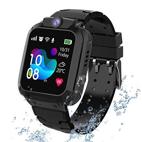 PTHTECHUS Wasserdichtes Kinder Smartwatch Telefon - Touchscreen Kinder Spiel...