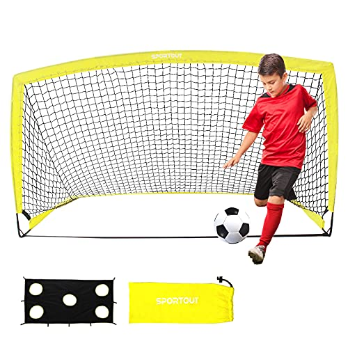 Sportout Tragbares Fußballtor, Training Fußballnetz für den Hinterhof,...