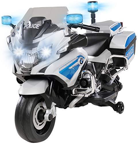 Kinder Polizei Elektromotorrad BMW R1200 Polizeimotorrad Elektroauto Elektro...