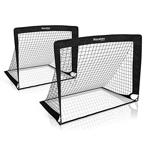 Racetex 2er Fußballtor Kinder Set - Fußball Tore inkl. nützlicher Tasche zum...