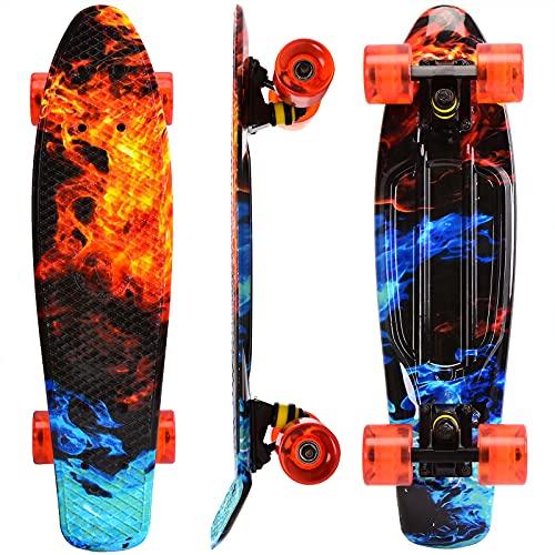 WonderTech Penny Board Jungs Mini Skateboard 22 Zoll,Cruiser Board Mädchen und...