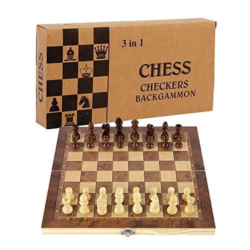 78Henstridge Schachspiel Schach Schachbrett Holz,Schach klappbar...