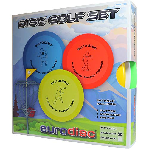 Eurodisc Disc-Golf Einsteiger Starter Set, PDGA Approved, Putter Midrange Driver...