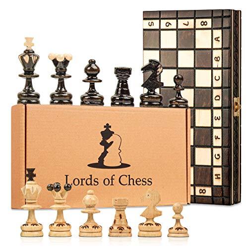 Amazinggirl Schachspiel Schach Schachbrett Holz hochwertig - Chess Board Set...