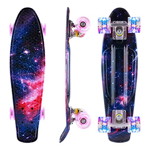 Caroma Skateboard für Mädchen Jungs, Penny Board, 22 Zoll/55cm komplettes Mini...