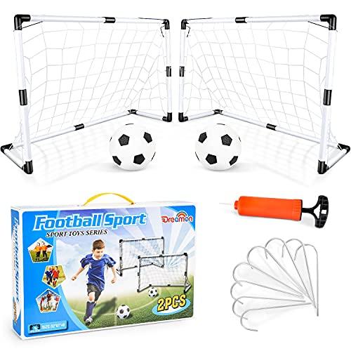 Dreamon 2er Set Kinder Fußballtore mit Fußball ,Tore und Pumpe Fussball...