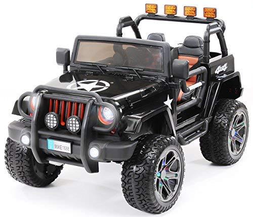 Actionbikes Motors Kinder Elektroauto Jeep Wrangler Offroad - 4x4 Allrad - USB -...