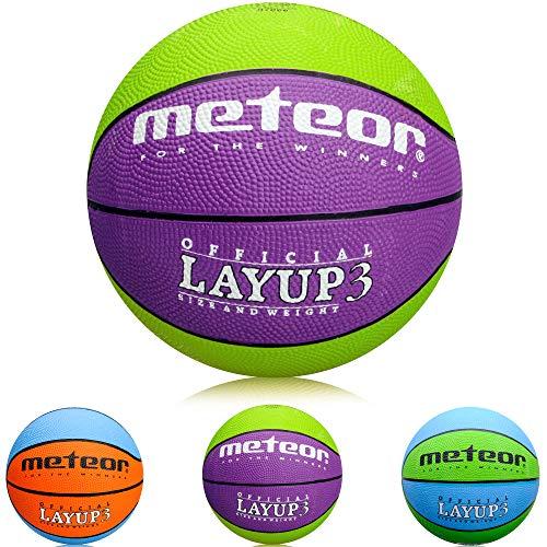 meteor Mini Basketball Kinder Größe #3 ideal auf die Kinderhände von 4-8...