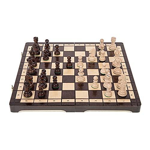 Square - Schach Schachspiel - Olympia - 35 x 35 cm - Schachfiguren & Schachbrett...