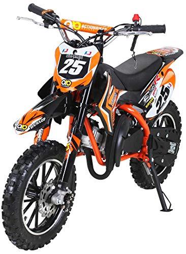 Actionbikes Motors Mini Kinder Crossbike Gepard 49 cc - Scheibenbremsen -...