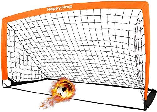 Happy Jump Fussballtor 6'x3' Pop Up Fussballtore für Kinder Garten Fussball Tor...