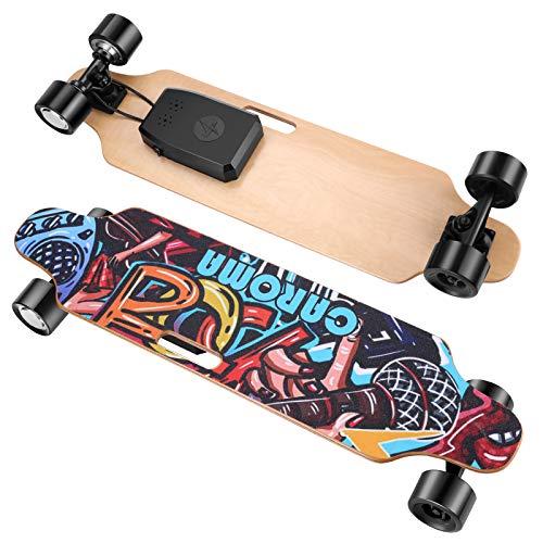 Caroma Elektrisches Skateboard mit ferngesteuertem 700-W-Longboard-Motor,...