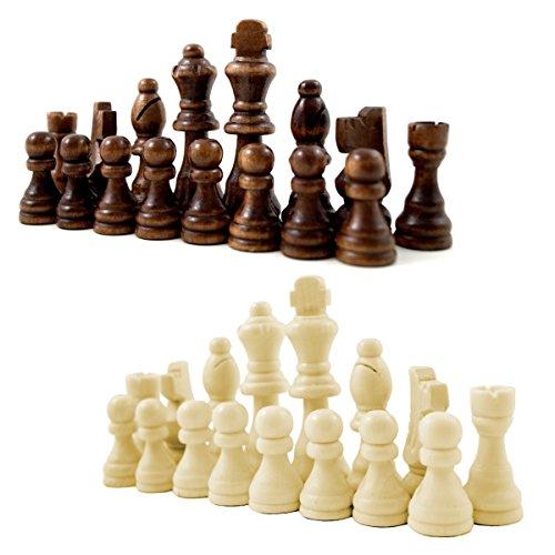 PrimoLiving Schachfiguren aus Holz mit Filzgleiter
