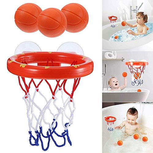 XUNKE Badewannenspielzeug, Spaß Badezimmer Basketballkorb,Kinder Bade Mini...