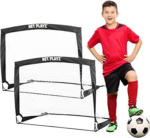 NET PLAYZ - 2er Set faltbar Tor - Fußball-Tor Pop Up - Fussballtor klappbar 120...