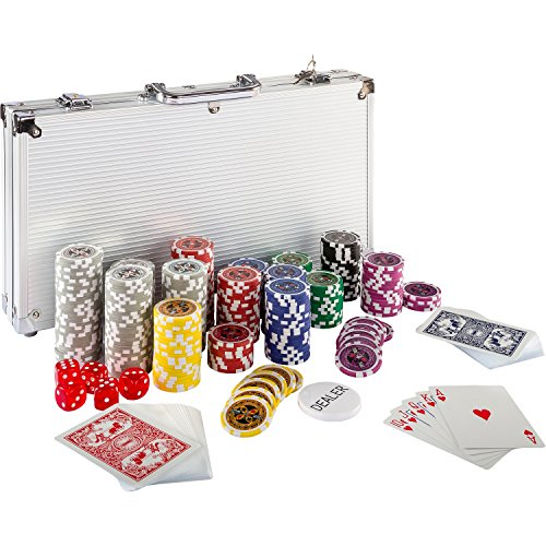 Maxstore Ultimate Pokerset mit 300 hochwertigen 12 Gramm METALLKERN Laserchips,...