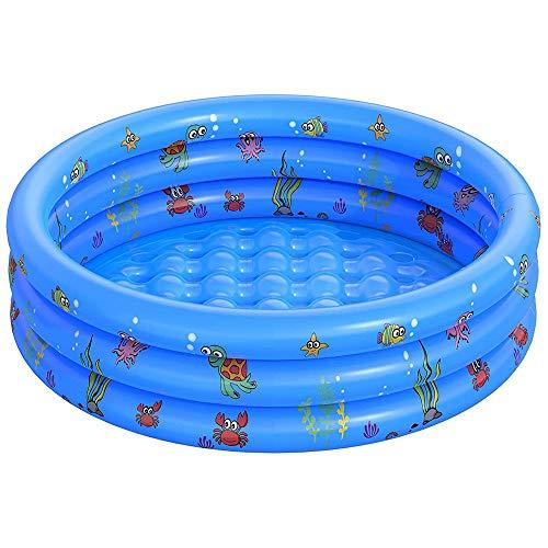 WOSNN Kinder Aufblasbarer Pool, Aufblasbares Kinder-Planschbecken Kinderpool...