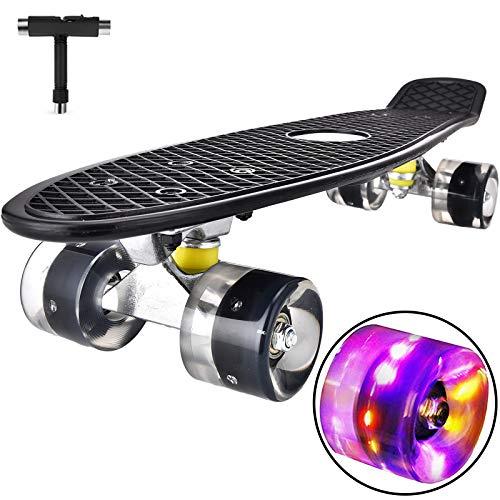 Skateboard Komplette Mini Cruiser Skateboard für Kinder Jugendliche Erwachsene,...