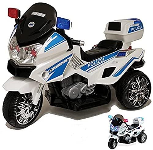 crooza Motorrad mit Polizei Stickern in Deutsch Kindermotorrad Roller...