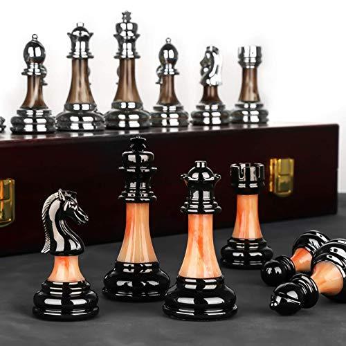 Cutfouwe schachfiguren Holz hochwertig, Schachbrett edel .schachspiel Kinder,...