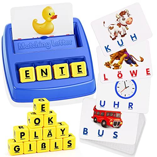 LET'S GOS! Kinder Spielzeug ab 2-8 Jahre Junge, Buchstaben Lernen Kindertag...