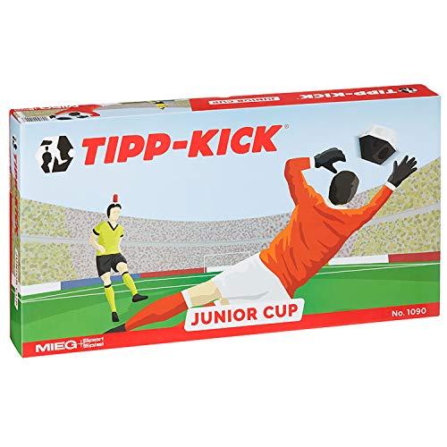 TIPP-KICK Junior Cup mit Bande 83x56 cm – Spielfertiges Set mit 2X Spieler, 2X...