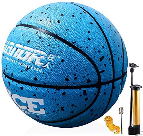 Senston Basketbälle Größe 7 mit Pumpe, Draussen Innen Straße Basketbälle,...
